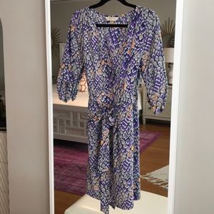 A silk wrap dress size SMALL